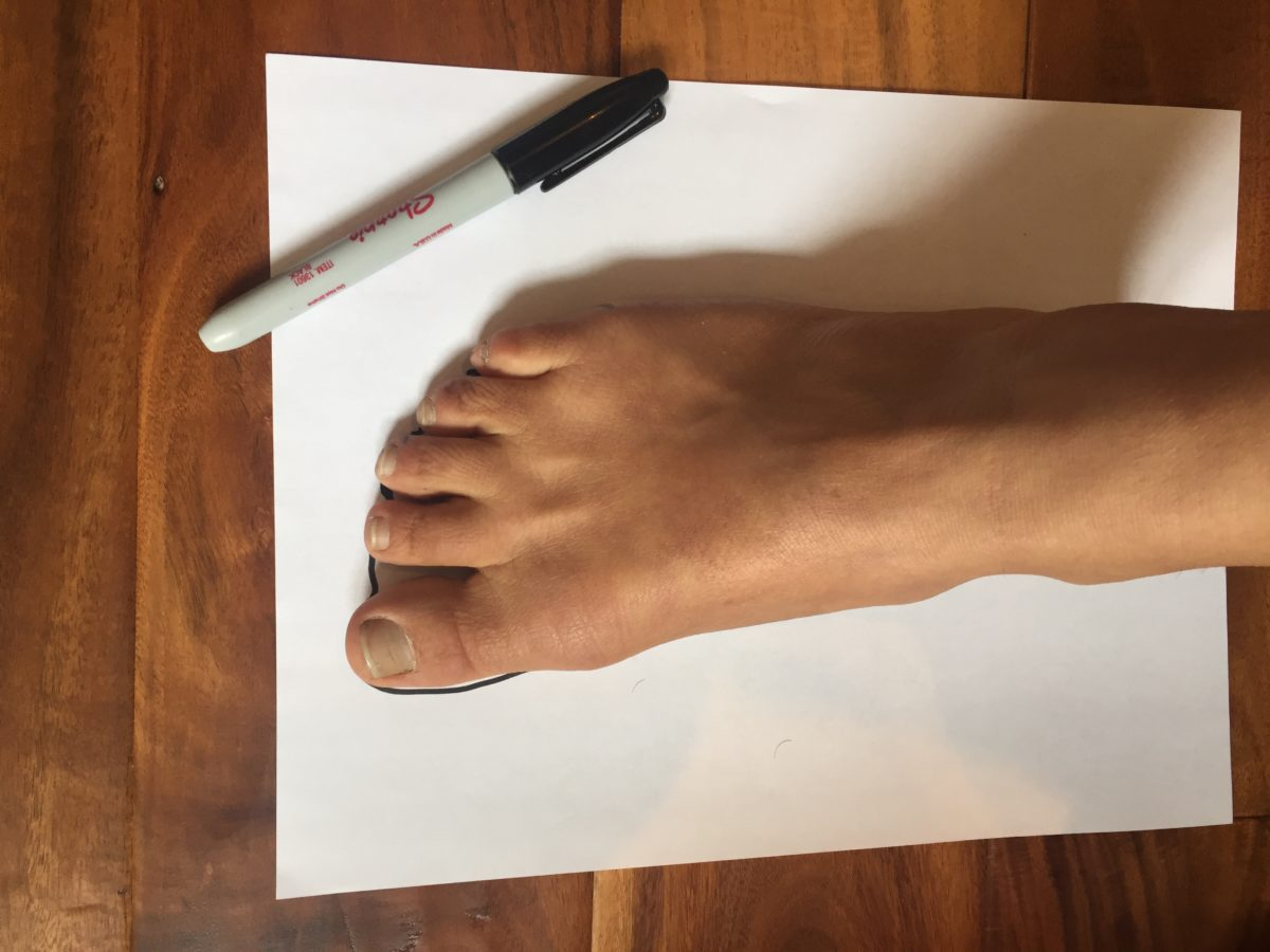 Test how your feet are shaped