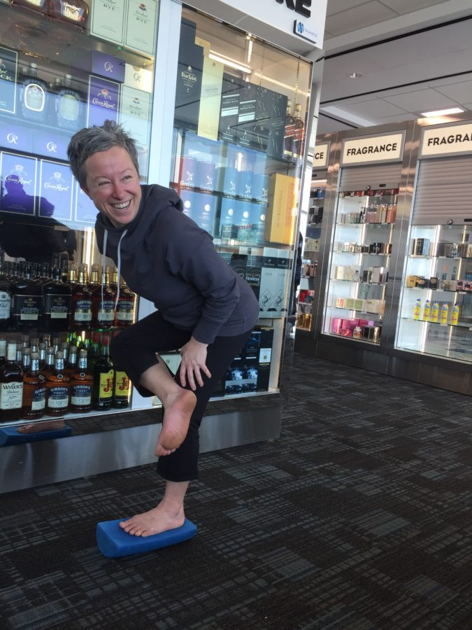 Hip stretches you can do in the airport to make air travel pain free